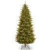 National Tree Co. Natural Fraser 7.5' Narrow Green Christmas Tree with 750 Clear Lights and Stand