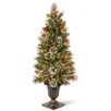 National Tree Co. Wintry Pine 4' Green Artificial Christmas Tree with 50 Clear Lights with Urn Base