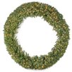 National Tree Co. Tiffany Fir Lighted Wreath with 450 Clear Lights
