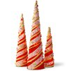 National Tree Co. Decorative Décor 3 Piece Cone Christmas Decoration Set