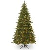 National Tree Co. 7.5' Green Fir Artificial Christmas Tree with 450 Incandescent Colored and Clear Lights