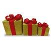 National Tree Co. 3 Piece Christmas Gift Box Decoration Set