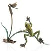 SPI Home Rainforest Frog with Dragonfly Statue