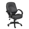 Boss Office Products Mid-Back Leatherplus Conference Chair with Arms