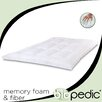 "BioPEDIC 1.5"" Memory Plus Classic Memory Foam & Fiber Mattress Topper"