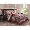 Metro Chic Stripe 10 Piece Bed Ensemble Comforter Set
