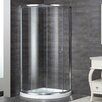 Aston Neo-Angle Door Round Shower Enclosure with Shower Base