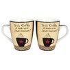"R Squared Dan Dipaolo ""Awesome Coffee"" Mug (Set of 4)"