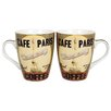 "R Squared Dan Dipaolo ""Café Paris"" Mug (Set of 4)"