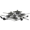 Cook Pro 17-Piece Stainless Steel Belly Shape Cookware set