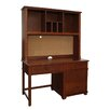 "Bolton Furniture Woodridge 53"" W Large Pedestal Desk with Hutch"