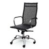 Winport Industries High-Back Mesh and Leather Executive Office Chair