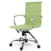 Winport Industries Mid-Back Eco-Leather Executive Swivel Office Chair with Arms (Set of 50)
