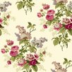 "York Wallcoverings Waverly Cottage Emma's Garden 33' x 20.5"" Floral and Botanical Wallpaper"