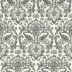 "York Wallcoverings American 33' x 20.5"" Floral Damask Roll Wallpaper"