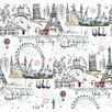 """York Wallcoverings 27' x 27"""" Novelty Euro Scenic Wallpaper"""