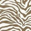 "York Wallcoverings Risky Business Magnetism 33' x 20.5"" Zebra Print Foiled Wallpaper"