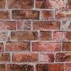 "York Wallcoverings Modern Rustic 33' x 20.5"" Brick Distressed Wallpaper"