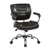 Office Star Products Faux Leather Adjustable Office Chair