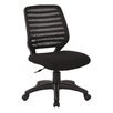 Office Star Products Screen Back Mid-Back Mesh Task Chair with T Arm