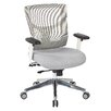 Office Star Products Pro-Line II™ Mid-Back Mesh Manager's Chair with Padded Fabric Seat