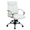 Office Star Products Deluxe Mid-Back Conference Leather Conference Chair with Arms