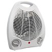 Comfort Zone Portable Electric Fan Compact Heater with Adjustable Thermostat
