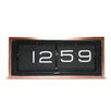 Scandinavian-style retro flip-display mantel clock