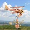 Good Directions Biplane Weathervane