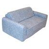Elite Products Distressed Denim Children's Foam Sleeper Sofa