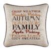 C & F Enterprises Autumn Crisp Weather Embroidered Throw Pillow