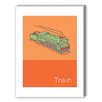 Americanflat Storybook Train Graphic Art