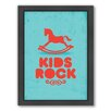 Americanflat Kid Framed Graphic Art on Canvas