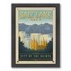 Americanflat Salt Lake City Framed Vintage Advertisement