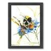 Americanflat Flower Bee by Suren Nersisyan Framed Painting Print