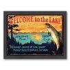 Americanflat Lake Framed Graphic Art