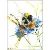 Americanflat Flower Bee by Suren Nersisyan Painting Print