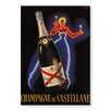 Americanflat Champaign Vintage Graphic Art Unwrapped Canvas