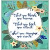 Americanflat What You Think Shower Curtain
