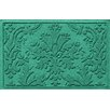 Bungalow Flooring Aqua Shield Damask Doormat