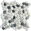 MS International Random Sized Natural Stone Pebbles Tile in Black and White
