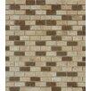 "MS International Noce/Chiaro Mini Brick 0.63"" x 0.63"" Natural Stone Mosaic Tile in Brown"