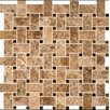 MS International Basket Weave Random Sized Natural Stone Mosaic Tile in Emperador Light