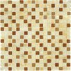MS International Tumbled 0.625'' x 0.625'' Glass Mosaic Tile in Honey Ripple Blend