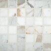 "MS International Pietra Calacatta 2"" x 2"" Porcelain Mosaic Tile in White"