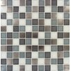 """MS International Diamond Cove Mounted 1"""" x 1"""" Glass and Metal Mosaic Tile in Multi"""