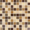 "MS International Spring Leaf Mounted 1"" x 1"" Glass Mosaic Tile in Beige"