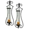 Aspire Rhodes Metal and Glass Sconce (Set of 2)