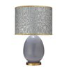 """Jamie Young Company Large Egg 29"""" H Table Lamp with Drum Shade"""