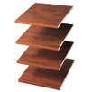 Easy Track Closet Organizers Shelves (Set of 4)